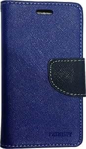 R safe Mercury flip cover for Samsung Galaxy S5 (Blue)