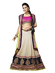 Touch Trends Off White Embroidered Lehenga Choli