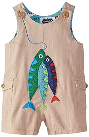 Amazon Mud Pie Baby Boys Fish Shortall Clothing