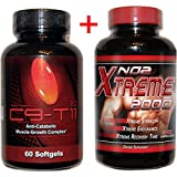 C9-t11 2.0 Conjugated Linoleic Acid Highest Potency Muscle Strength Workout 60 Softgels and Bottle of NO2 2000 Xtreme 90 Capsules