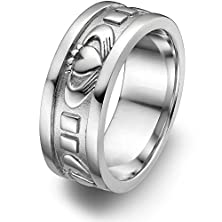 buy Sterling Silver Men'S Claddagh Wedding Ring Ums-6343 Size: 9