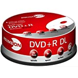 "Primeon DVD+R Double Layer 8X DVD-Rohlinge 240min / 8,5GB White-Ink Fullsize Printable 25er Spindelvon ""PRIMEON Media GmbH"""