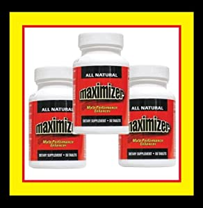 Maximizer Penis Enlargement & Male Enhancement Pills - 3 Bottles (60 Count Each)