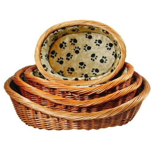 Trixie Wicker Basket - con imbottitura e cuscino, 60 centimetri