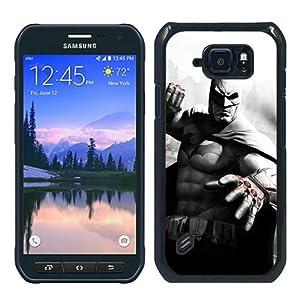 Batman Arkham City Character Blood Fist City Houses Black And White Batman Black Phone Case For Samsung Galaxy S6 Active,Unique Cover at Gotham City Store