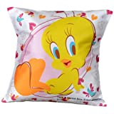 MeSleep Warner Brother Digitally Printed Tweety Cushion Cover - White And Yellow (WBt-H-02-16)