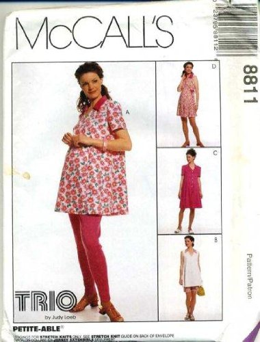 Mccall'S Sewing Pattern 8811 Misses' Maternity Top, Rompers In 2 Lengths And Leggings In 2 Lengths, Size B (8 10 12) front-751537