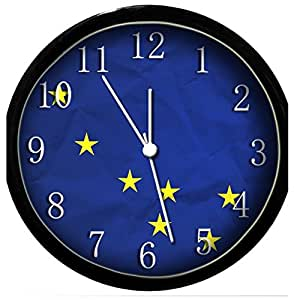 glow in the dark wall clock alaska flag