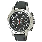 Henley Fashion Watch with Decorative Multi-Eye Dial Men's Quartz Watch with Black Dial Analogue Display and Black Silicone Strap H0208213