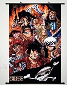 Home Decor One Piece luffy Cosplay Anime Fabric Wall Scroll Poster 23.6 X 35.4 Inches -177