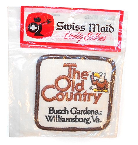 swiss-maid-nos-the-old-country-busch-gardens-souvenir-vintage-sew-on-embroidered-cloth-patch