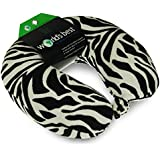 World's Best Feather Soft Microfiber Neck Pillow, Zebra