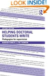 Helping Doctoral Students Write: Peda...