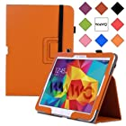 WAWO Samsung Galaxy Tab 4 10.1 Inch Tablet Smart Cover Creative Folio Case - Orange