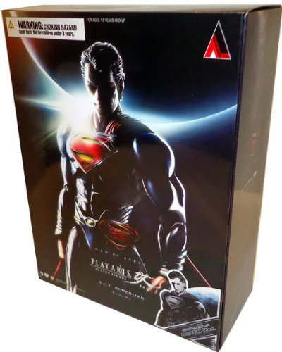 Man of Steel Square Enix Play Arts Kai Action Figure Superman [Black Suit] (Square Enix Inc compare prices)