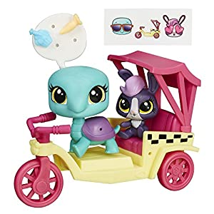 Littlest Pet Shop City Rides Turtle and Bunny Rickshaw