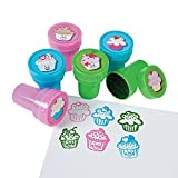 Fun Express Cute Cupcake Stamps (2 Dozen) Assorted Colors