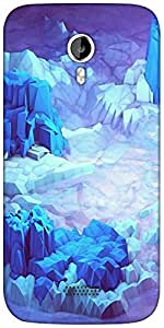Snoogg Crystal earth Designer Protective Back Case Cover For Micromax A116