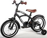 14 Zoll Yipeeh Black Cruiser Kinderfahrrad Jungen Fahrrad schwar