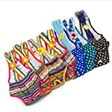 UDTEE 2PCS Colorful/Comfortable/Cosy Pet Dog Cotton Tighten Strap Sanitary Physiological Pants Pet Underwear Diapers,Random Color,Large Size