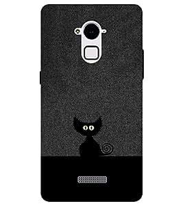 Chiraiyaa Designer Printed Premium Back Cover Case for Coolpad Note 3 (cat black hide) (Multicolor)