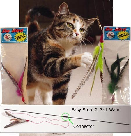 The Da Bird Value Pack (Includes 1 Da Bird Pull Apart Cat Toy & 2 Replacement Feathers)