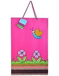 Richa Kriti Paper Pink Shopping Bag