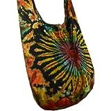 BTP! Heart Tie Dye Sling Crossbody Shoulder Bag Purse Hippie Hobo Cotton Gypsy Bohemian VK14