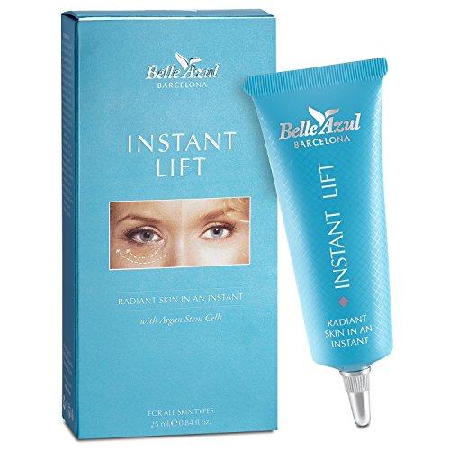 Belle Azul Balsamo gel contorno occhi effetto lifting istantaneo e rimpolpante con Olio di Argan biologico. Anti-rughe e anti- invecchiamento. Riduce le rughe e le borse sotto gli occhi. 25ml