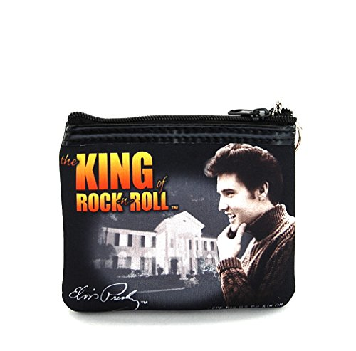 Elvis Presley Small Coin Purse with Key Chain, The King of Rock n Roll, EP8489