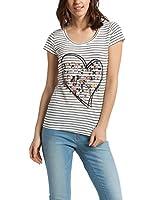 Desigual Luisana - T-shirt - Empire - Imprimé - Col rond - Manches courtes - Femme