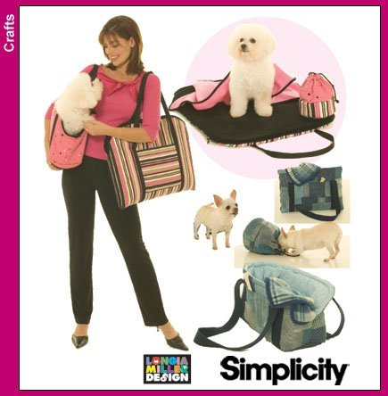 OOP Simplicity Pattern 4716. Pet/dog/cat Accessories. Bags; Carry Bags; Blanket' Treat Bag; Padding