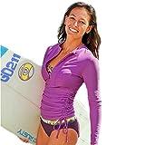 FOREVER YUNG A Wetsuit Sun Protection Surf Swim Rash Guard Shirt Longsleeve Swim Shirt Purple S