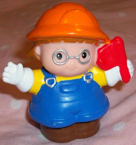 Buy Low Price Mattel Fisher Price Little People Maggie Construction Worker Girl Figure Replacement Doll Toy (B0023ZP8H0)
