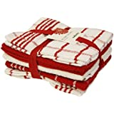 5 Pack Red and White Terry Tea Towel