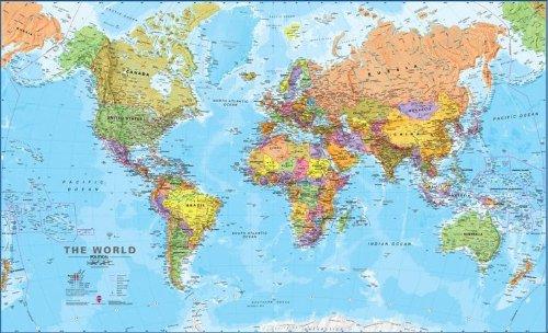 Hemisphere Blue Ocean World And Usa Wall Map Set Jogingan2's Diary