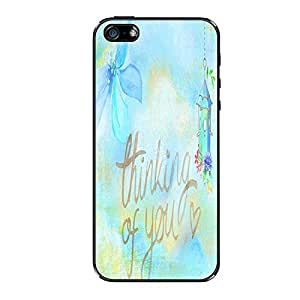 Vibhar printed case back cover for Apple iPhone 5s ThinkingU