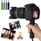 First2savvv ZP-B-01 black Self-portrait telescopic handheld Pole Arm monopod Camcorder/Camera/mobile phone tripod mount adapter bundle for Canon EOS 450D EOS 300D PowerShot G1 X EOS EOS-1D C EOS 6D
