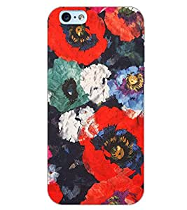 PrintDhaba FLOWER PATTERN D-6855 Back Case Cover for APPLE IPHONE 6S (Multi-Coloured)