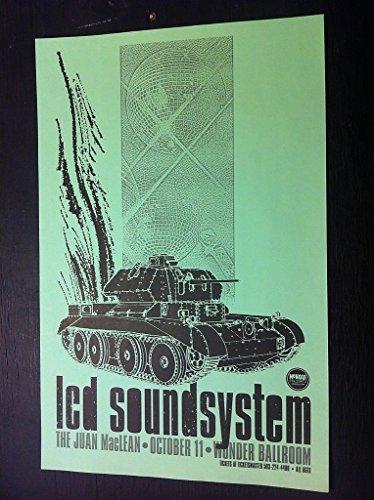 Lcd Soundsystem James Murphy Wonder Ballroom Portland Original Concert Poster