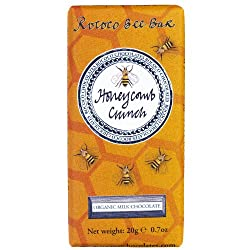 Honeycomb Crunch Bee Bar in Organic Milk Chocolate