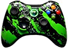 5,500+ Mode Modded Gaming Controller For Xbox 360 & PC In Custom GREEN SPLATTER SHELL!!! Hydro-Dipped Shell (New High Quality Finish) Will Not Chip, Scratch, or Fade -Sniper Quick Scope & Hold Your Breath,Jitter,Drop Shot,Jump Shot,Auto Aim For Nazi Zombies, Special Ops & Campaign Missions, Auto Burst 1 To 8 Rounds Per Trigger Pull,Quick Aim,Dual/Akimbo,Mimic, And More