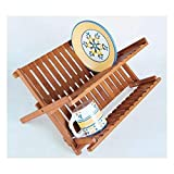 Lipper International 8813 Bamboo Folding Dishrack