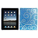 MyBat Back Protector Cover for iPad, Flourish Diamante (IPADHPCBKDM108WP)