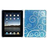MyBat Back Protector Cover for iPad, Flourish Diamante (IPADHPCBKDM108WP)