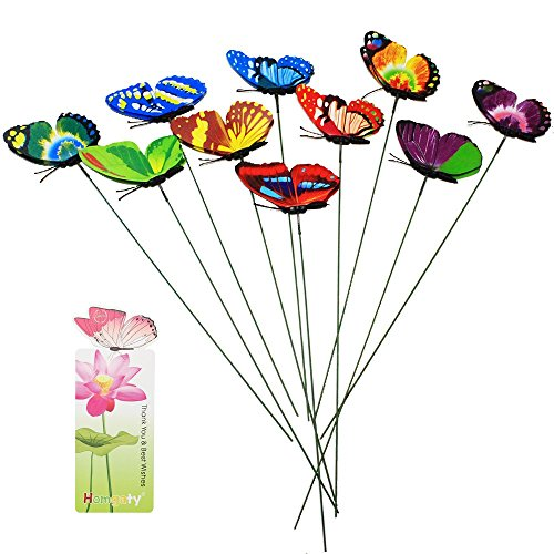 homgaty-7cm-10pcs-colourful-garden-butterflies-on-sticks-plant-decoration-craft-with-butterfly-bookm
