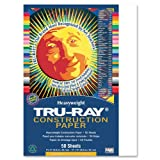 "Tru-Ray Construction Paper, 9""X12"", White, 50 Sheets"