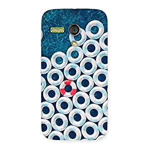 Special Sea Saving Blue Back Case Cover for Moto G