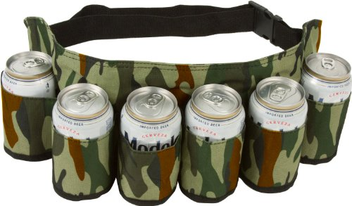 Ez Drinker Beer & Soda Can Holster Belt, Holds 6 Beverages front-974834