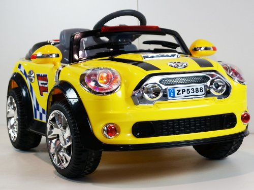 Mini Cooper Style Car New Power Ride On Toy Electric Car Battery Powered With Mp3 Connection 2 Motors And 2 Battery Remote Control